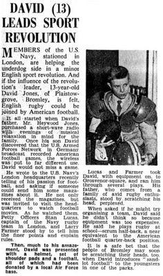 David Bowie Wonderworld - David (13) Leads Sport Revolution 1960