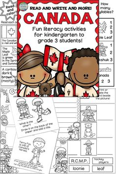 #CANADA - Fun Read and Write and More! K-3 $