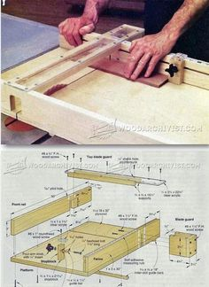 Table Saw Crosscut Sled Plans - Table Saw Tips, Jigs and Fixtures   WoodArchivist.com