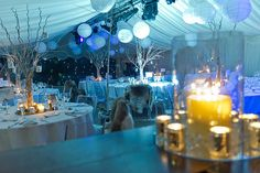 Event photography - winter Narnia themed marquee