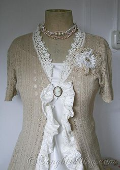 altered couture ideas | cut up the bodice and the sleeves to make