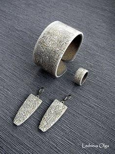 Bracelets, rings and earrings. Polymer clay by Olga Ledneva