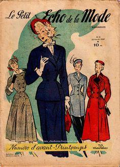 "Ретро-дамы - французский журнал ""Le Petit Echo de la Mode"" (1949 года)"