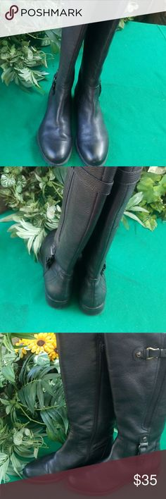 Naturalize Boots Genuine leather widecaff. Like New clean and undamaged.  . Naturalizer Shoes Over the Knee Boots