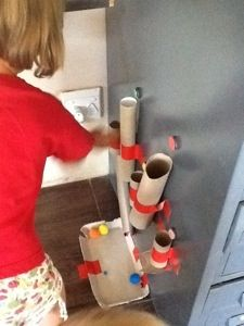 Make a frugal fine motor play toy from recyclables!