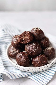 Peanut Butter  amp  Chocolate Bliss Balls
