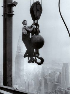 Construction worker on the Empire State Building