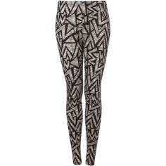 Black Aztec Print Leggings ($40) ❤ liked on Polyvore