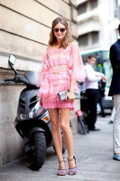 f277c3cc309701 Olivia Palermo in a pink valentino dress Street Fashion