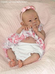 Peaches And Cream Reborn Baby Girl By Bonnie Brown Sally Now Beautiful Bronte