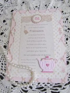 Fancy tea party invitation - will use the first sentence and make our own based on a Paris Tea Party theme :) by kendra