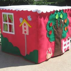 This goes over a card table! What a fun, easy to set up and easy to store playhouse.