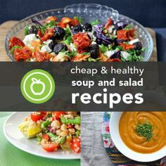 22 Cheap and Healthy Soup and Salad Recipes. Add Kashi Hummus Crisps. All natural ingredients and great crunch. #GotItFree