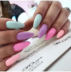 Image about fashion in Unhas/Nail Art by Anna Clara Santos Fraccaro - Summer Acrylic Nails Summer Acrylic Nails, Best Acrylic Nails, Acrylic Nail Designs, Spring Nails, Acrylic Nails Pastel, Pink Summer Nails, Summer Toenails, Funky Nail Designs, Peach Nails