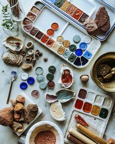 Tinta Natural, Homemade Watercolors, Natural Dye Fabric, Earth Pigments, Handmade Paint, Artist Aesthetic, Organic Art, Nature Paintings, Watercolor Art Diy
