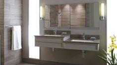 38 small bathroom storage ideas and wall storage solutions 17 Vintage Bathroom Mirrors, Eclectic Bathroom, Retro Bathrooms, Kitchen Cabinet Storage, Small Bathroom Storage, Wall Storage, Storage Ideas, Storage Solutions, Ada Sink