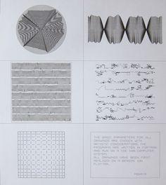 manfred mohr - Computer Graphics, Une Esthétique Programmée 1971 - Demonstration Plot Computer Generated Imagery, Computer Art, Art Génératif, Paris Ville, Generative Art, Elements Of Design, Art Moderne, Digital Art, Diagram