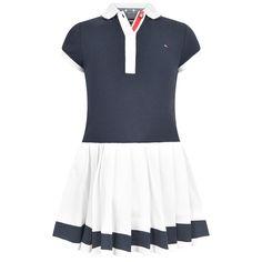 Tommy Hilfiger Girls Navy & White Polo Dress