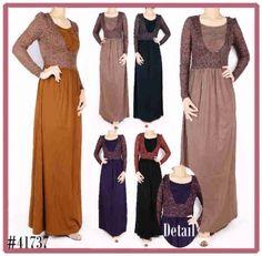 Brokat Model Dress Muslim Maxi Muslimah