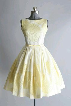 Yellow vintage style dress.