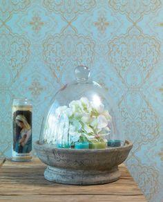 Rosmerta | Papel pintado turquesa | Papeles pintados extra | Papeles de los 70