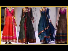 In todays video I am going to share Stylish Outfit Ideas From Old Banarsi Border Sarees New Designer Dresses, Indian Designer Outfits, Designer Wear, Indian Outfits, Saree Gown, Sari Dress, Long Gown Dress, The Dress, Long Frock