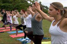 Aula de Yoga, ao ar livre, gratuitamente em Joinville.