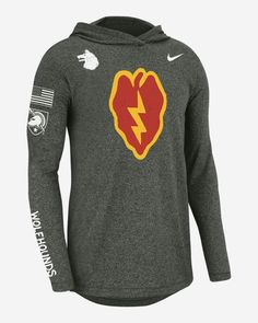 Nike College (Army) Men's Long-Sleeve Hooded T-Shirt. Nike.com
