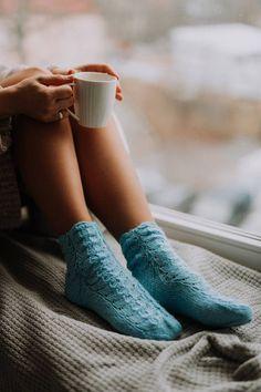 Lace Socks, Wool Socks, Knitting Socks, Sport Style, Bed Socks, Winter Socks, Coffee Cafe, Warm And Cozy, Light Blue