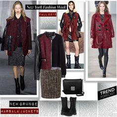 NYFW Fall 2015 Trend Grunge Marsala Jackets