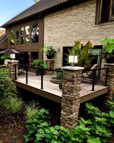 Backyards, deck, outdoor space