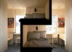 Bunk beds design and room ideas. Most amazing bunk beds for kids. Designing bunk beds that you might like. Sibling Bedroom, Siblings Sharing Bedroom, Student Room, Bunk Bed Designs, Small Spaces, Small Space Bed, Small Kids Rooms, Small Dorm, Kid Spaces