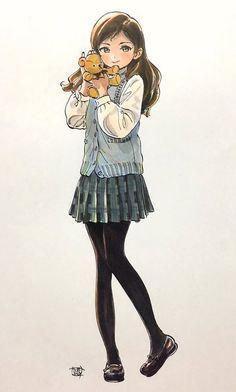 C3qoyd4uyaeccy7 Anime Chibi, Manga Anime, Kawaii Anime, Anime Art Girl, Manga Girl, Cute Anime Character, Character Art, Desu Desu, Anime Poses Reference