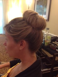 Sock bun without the sock :)