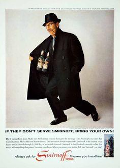 0 Groucho Marx - 1965 Ad Smirnoff Vodka