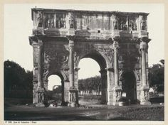Find out more on Europeana Arch Of Constantine, George Washington Bridge, New Image, Rome, Online Printing, 19th Century, Tourism, Travel, Italy