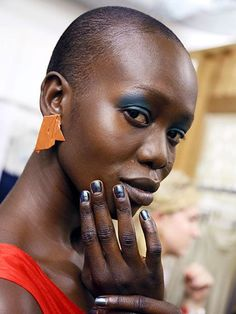 NYFW Beauty Trends Spring 2016 - Metallic Gray-Blue Nail Polish at Creatures of Comfort | allure.com