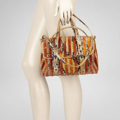 Gorgeous Rust Resina Velvet Python Bag. $3450 = I will be making this myself, thankyouverymuch.