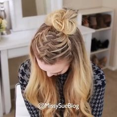 So beautiful 😍😍 Plaits Hairstyles, Work Hairstyles, Medium Bob Hairstyles, Everyday Hairstyles, Pretty Hairstyles, Blonde Hairstyles, Simple Hairstyles, Layered Hairstyles, Pixie Haircuts
