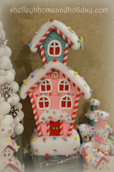 New large Candy House decorations available here http://www.shelleybhomeandholiday.com/candy-christmas-decorations.html