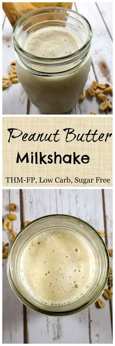 THM Peanut Butter Milkshake - THM- S Drink, a low-carb-peanut-butter-milkshake-sugar-free