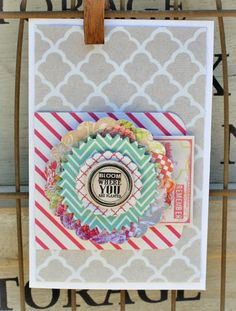 Love the multi-layered embellishment on this card @Dani Reid for MME