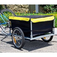 Bike Cargo Trailer Bicycle With Cover Shopping Cart Carrier Tow Hauler Garden  #Bicycle #Bike #cargo #Carrier #Cart #Cover #Garden #Hauler #Shopping #Trailer CyclingDuds.com