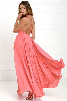 34caaf0c96 Mythical Kind of Love Coral Pink Maxi Dress Coral Dress