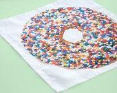 Sprinkles Donut Handkerchief by Avrilloretti $15