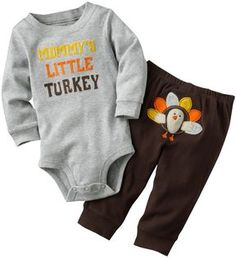 """""""mommy's little turkey"""" // I'm a sucker for baby clothes with anything on their tush. adorable."""