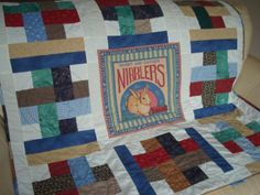 Nibblers Quilt, Rabbit outline quilting