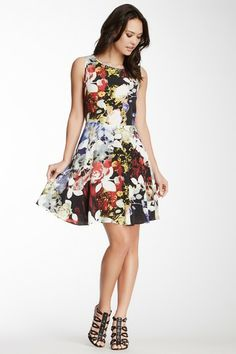 Great floral print  Draped Printed Silk Dress by Rachel Roy on @HauteLook