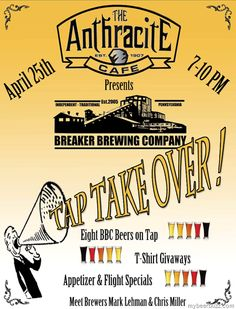 Breaker Brewing Co Tap Take Over @ The Anthracite