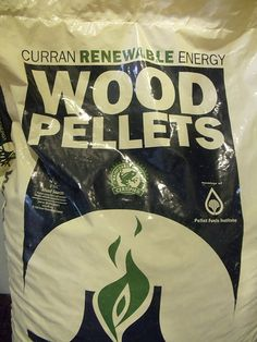Wood pellets bearing the little green frog seal!